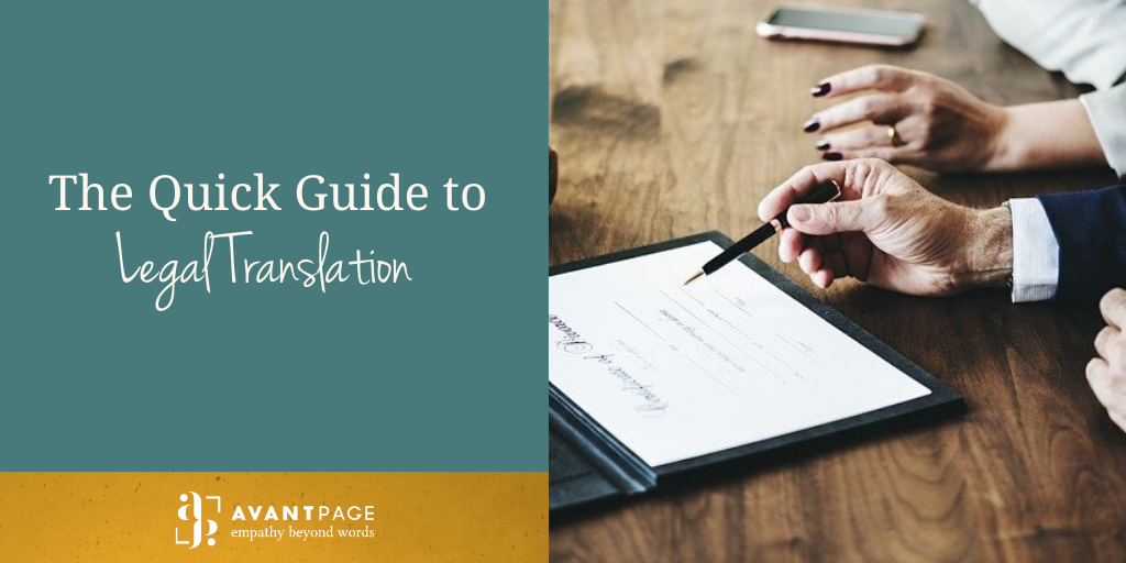 The Quick Guide to Legal Translation